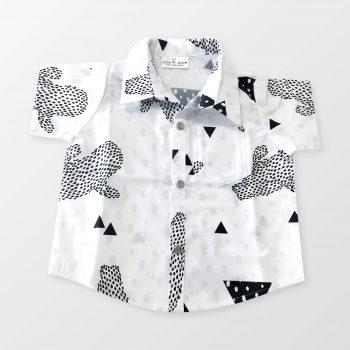 Cactus Print Cotton Kids and Babies Shirt - Fox & Moon