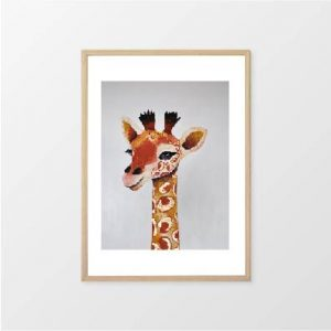 Fox & Moon - Giraffe Wall Art