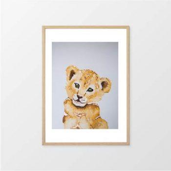 Fox & Moon - Lion Wall Art