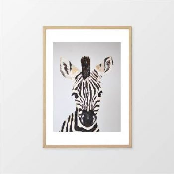 Fox & Moon - Zebra Wall Art