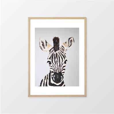 Fox & Moon - Zebra Wall Art