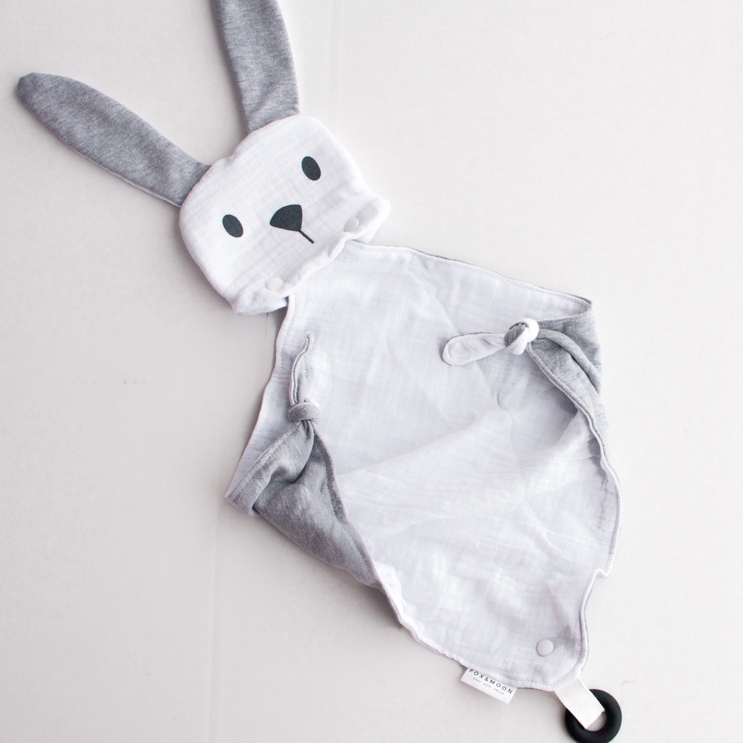 Grey Bunny snuggle teether