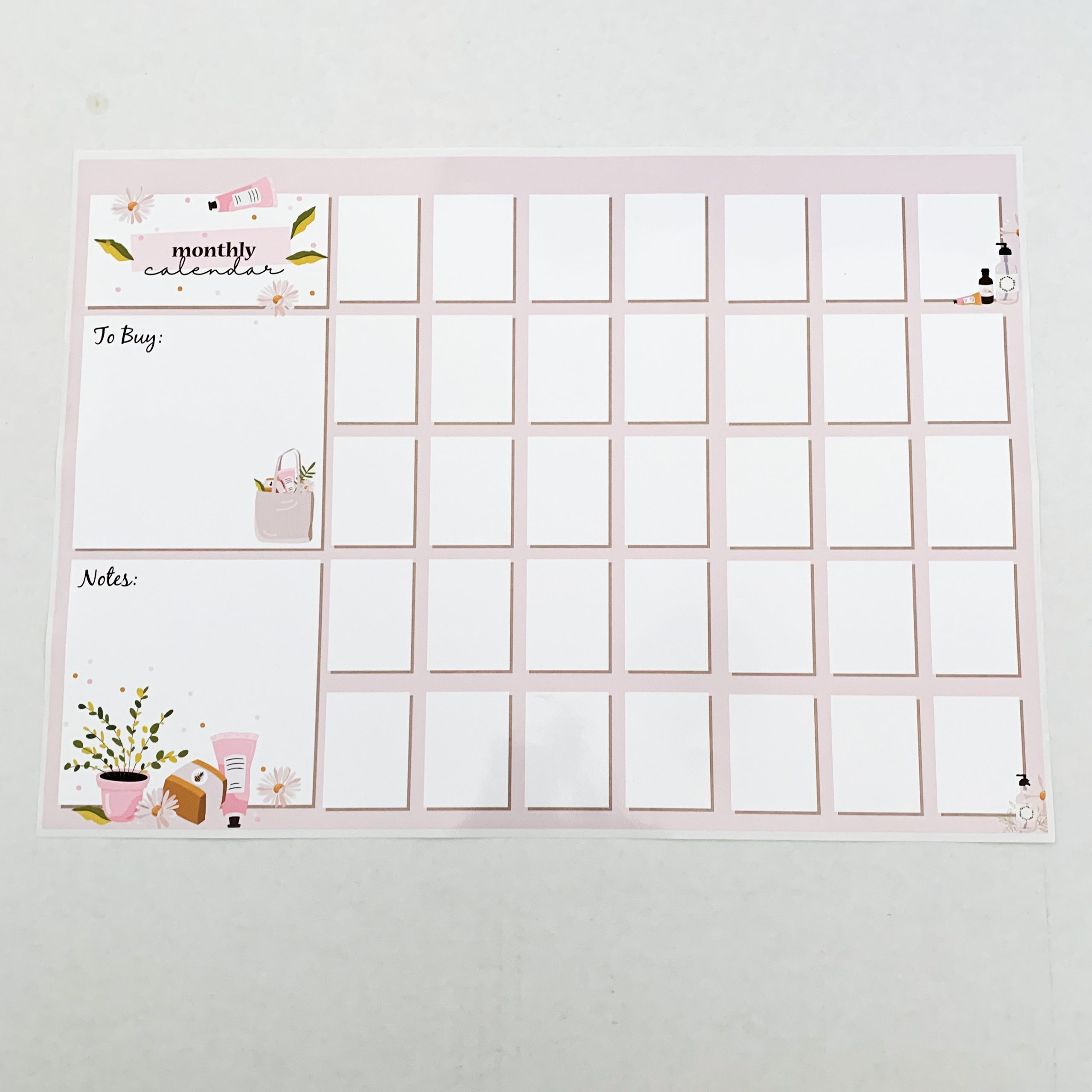 Magnetic Family Calendar - A3