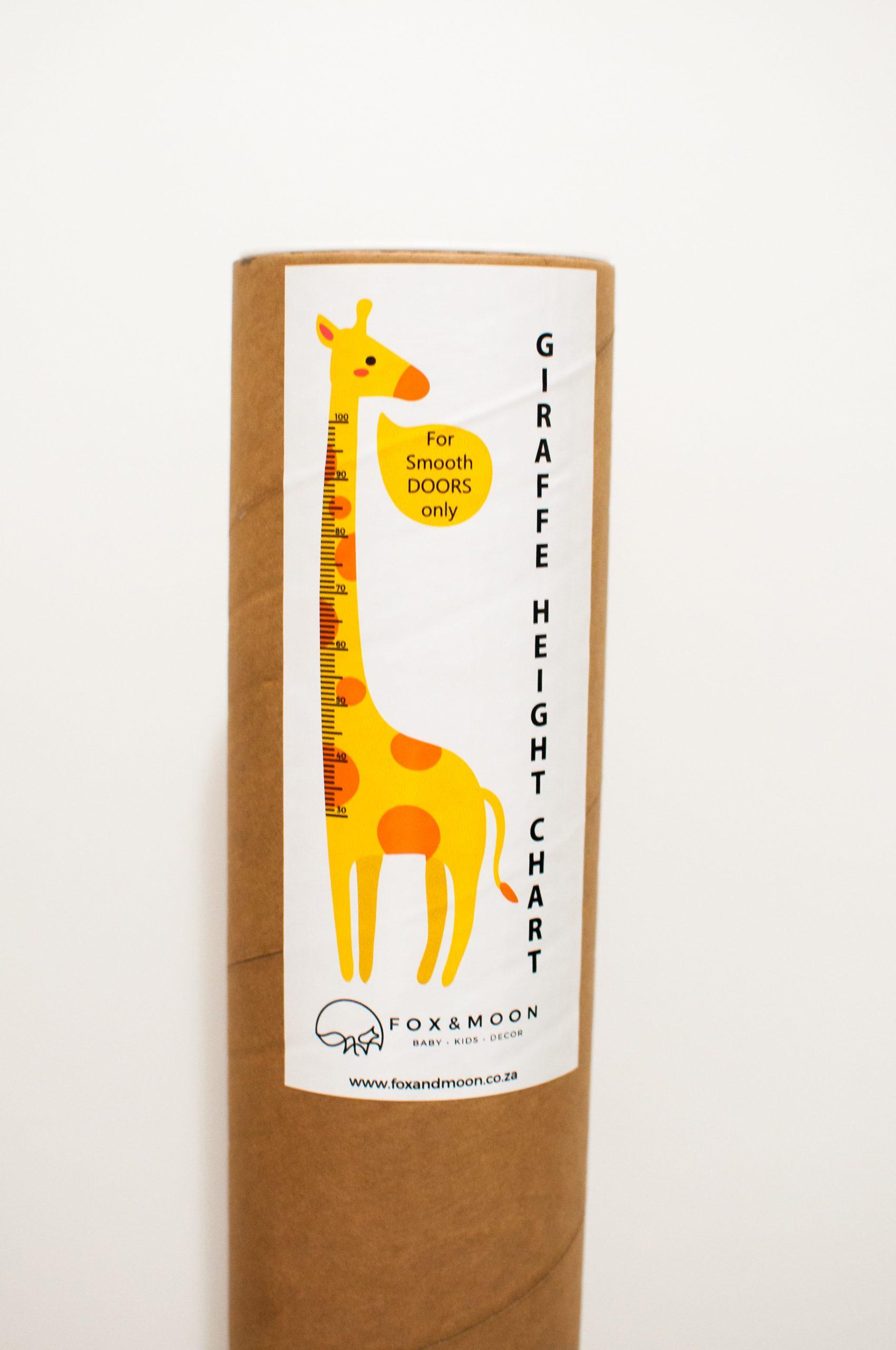 Giraffe Cut Out Height Chart Sticker