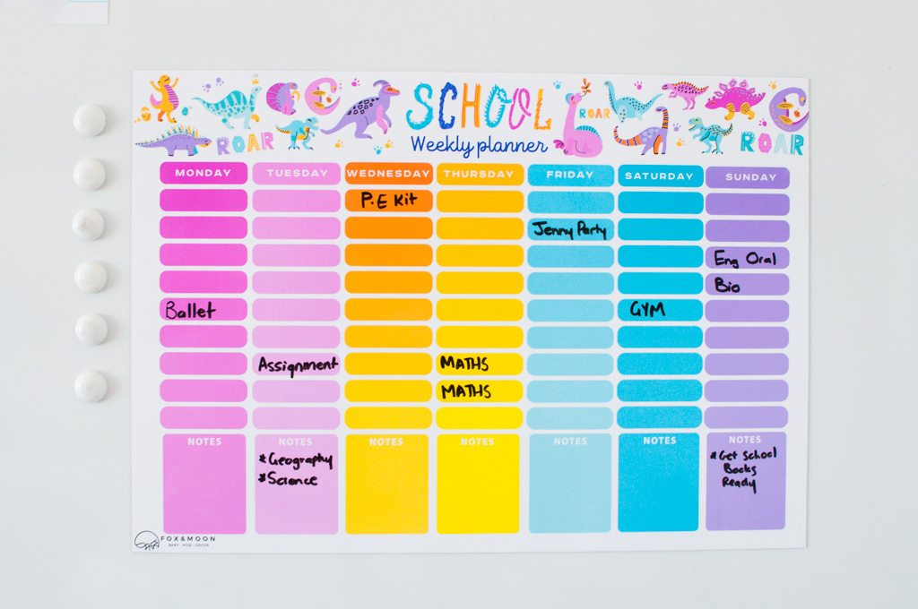 Magnetic Whiteboard School Times table - A3