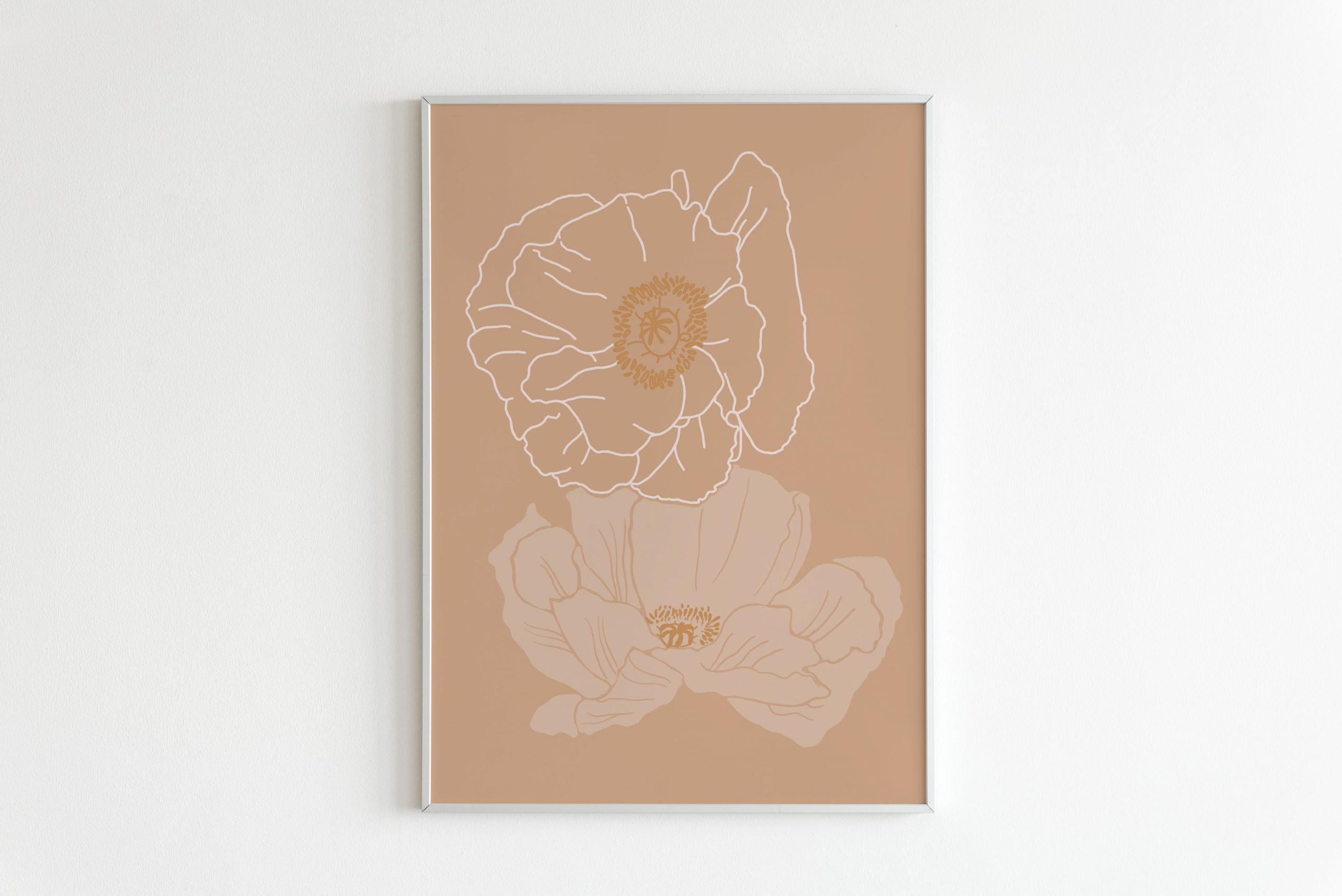 Sherbet Poppy Print