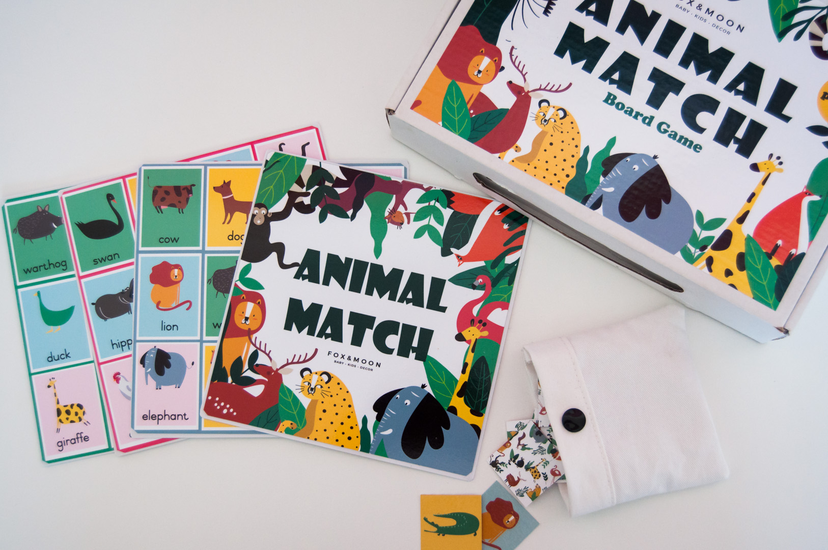 Animal Match Board Game