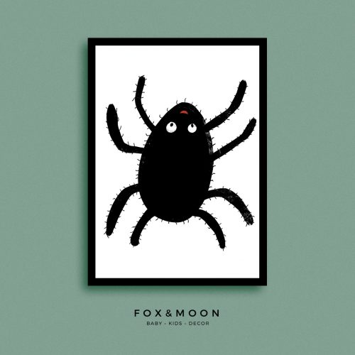 Fox & Moon - Spider Art Print