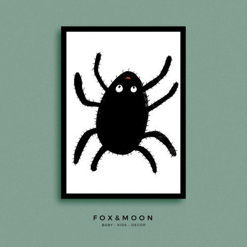 Fox & Moon - Spider Art Print