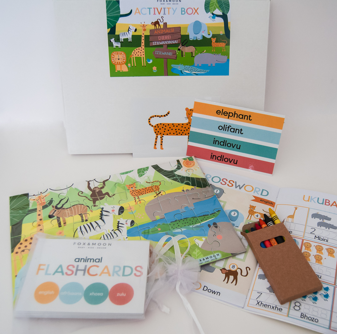 Multilingual Animal Activity Box