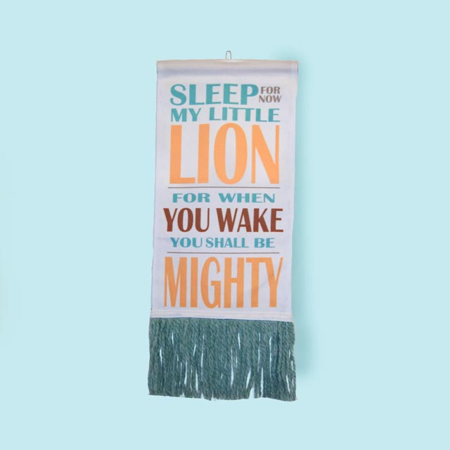 Lion Wall Hanging - Blue