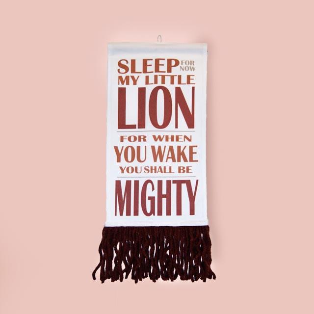 Lion Wall Hanging - Brown