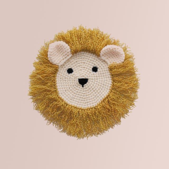 Crochet Lion Wall Hanging